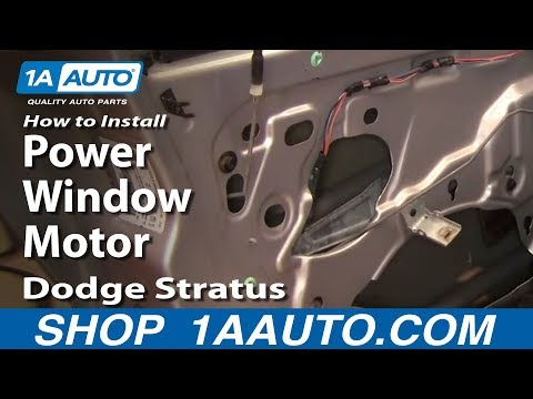 How To Install Replace Power Window Motor Dodge Stratus 01-06 1AAuto.com