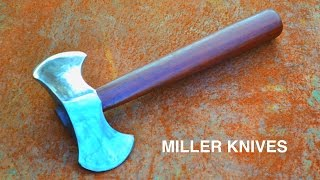 Facebook page https://www.facebook.com/Miller-Knives-285026088542858/?ref=aymt_homepage_panelHere is how I forged a double bitted throwing axe from a hammer