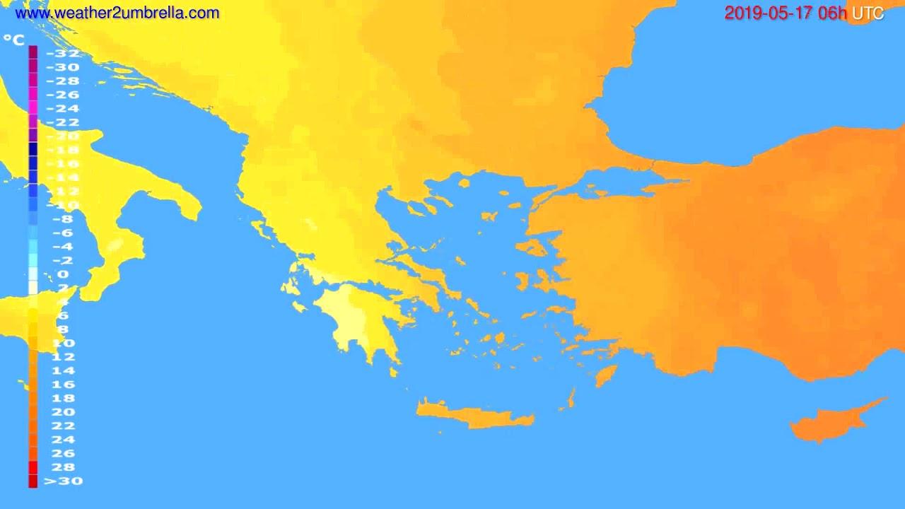 Temperature forecast Greece // modelrun: 12h UTC 2019-05-14