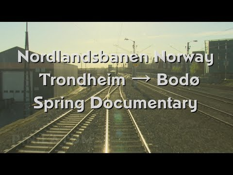 Cab Ride and Train Driver's View on the Nordland Railway Line in Norway - Spring Documentary