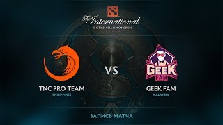 TNC Pro Team vs Geek Fam, The International 2017 SEA Qualifier