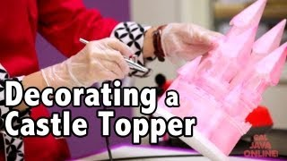 How to Color a Castle Topper using an Airbrush & Disco Dust