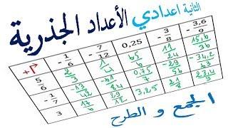 الرياضيات الثانية إعدادي - الأعداد الجذرية المجموع و الفرق تمرين 6