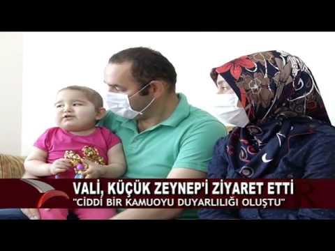 VALİ, KÜÇÜK ZEYNEP'İ ZİYARET ETTİ