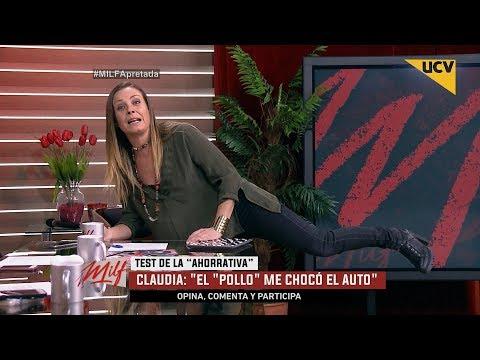 """video Claudia Conserva relata cuando el """"pollo"""" Valdivia le chocó su auto nuevo"""