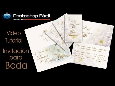Invitacion Para Boda Photoshop Fácil By @yanko0