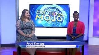 Intern host, Martine On The Scene, fills in for Emotional Mojo co-host Tara Gidus in this intern addition of Food Therapy, our weight loss challenger Ashley Dipaolo checks in with Tara to show off her weight-loss progress in week 6 of her journey to ONE-derland.Join us as we welcome our brave weight loss challenger, Ashley DiPaolo.Follow Ashley's journey on her YouTube channel: http://bit.ly/1CxuPR0Get MORE Emotional MOJO:Twitter https://twitter.com/EmotionalMojoFacebook https://www.facebook.com/EmotionalMojoGoogle+ https://plus.google.com/+Emotionalmojo/postsArticle: http://emotionalmojo.com/weight-loss-challenge-week-6-ashley/