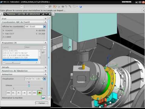 JANUS ENGINEERING - Simulation ISO machine HERMLE C40 - NX nous permet de développer les outils de vérification programme dont nos clients ont besoin