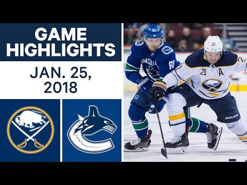 Video: NHL Game Highlights | Sabres vs. Canucks - Jan. 25, 2018