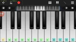 Not Piano - Mas'ud Sidik Duda ( Tutorial Piano ) Walk Band tutorial