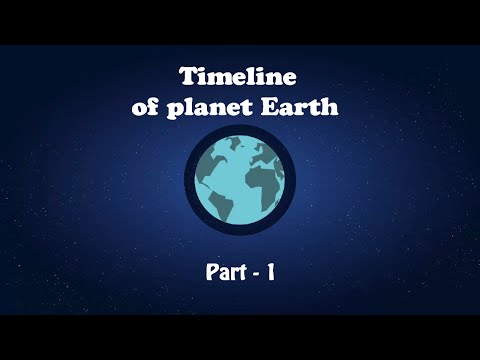 Timeline of planet earth -  Part 1   Tell me why