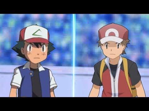 Pokemon Battle USUM: Kanto Ash Vs Red Origin (Pokemon Anime Vs Pokémon Origins)