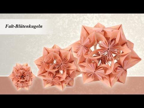 Ideen mit Herz - Blütenkugel - Fleurogami - aus 1 mach 3