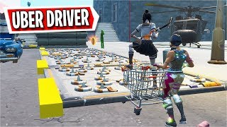 I became an Uber Driver for this Deathrun... (Fortnite Creative)