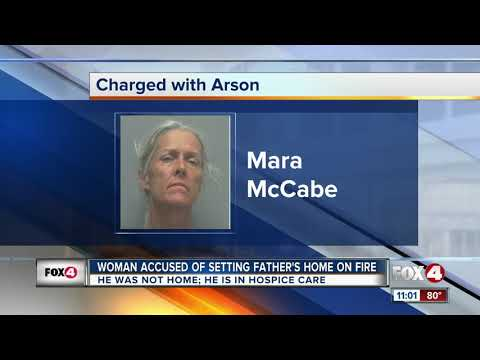Woman accused of setting dying father's home on fire