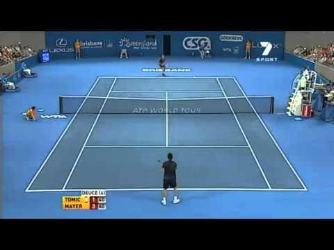 Brisbane International: Tomic vs Mayer