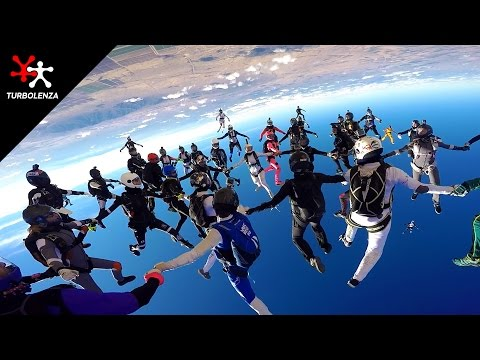 TURBOLENZA: 65 Bad Ass Chicks In Vertical Skydiving World Record