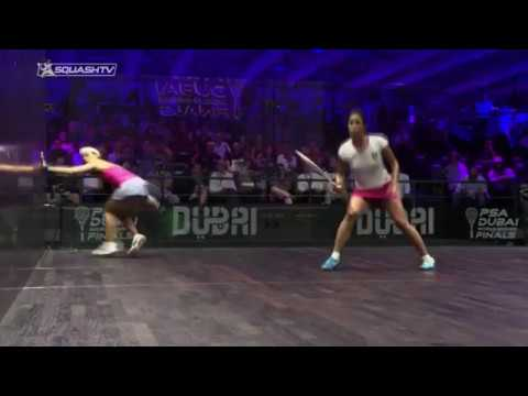 Squash analysis: Perfect volley drop from Nouran Gohar