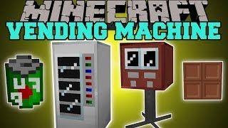 Minecraft: VENDING MACHINE MOD (BUY DRINKS AND CANDY!) Mod Showcase