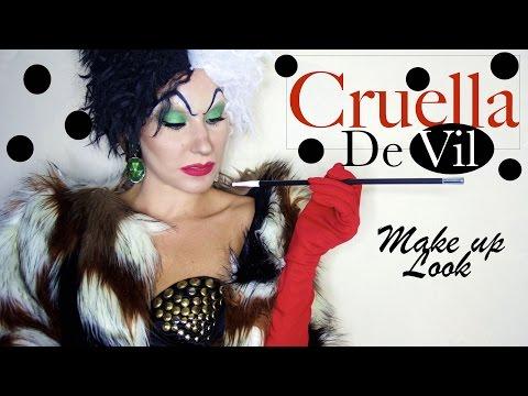 Halloween edition | CRUELLA D'ENFER || Cruella De vil's make up look