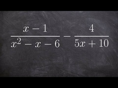 Subtracting two rational expressions with unlike denominators