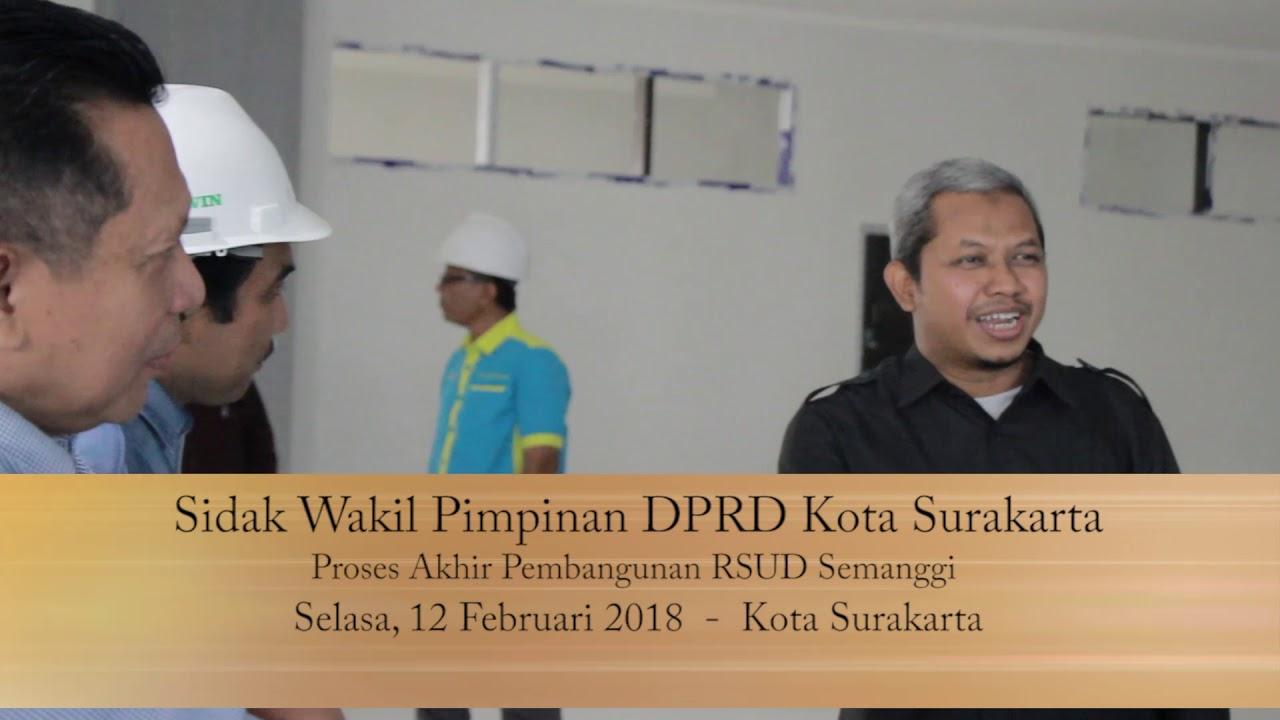 Selasa 12 Februari 2019 Sidak Pimpinan DPRD