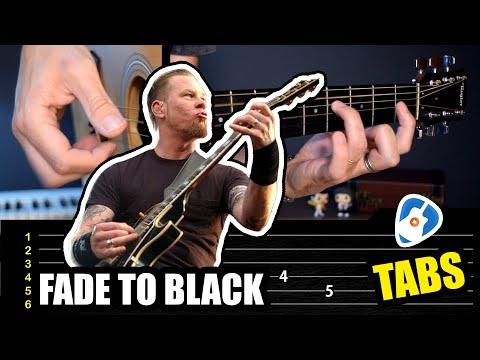 Como tocar la hermosa intro de Fade to Black en guitarra acústica fingerstyle | Tablatura TCDG