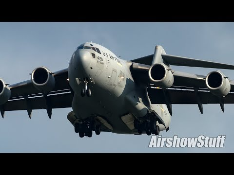 A demonstration of the Boeing C-17...