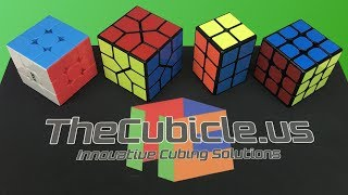 I unbox some new cubes from TheCubicle.us, including a mass produced 2x2x3 and two new mid-range 3x3s. QiYi 2x2x3:...