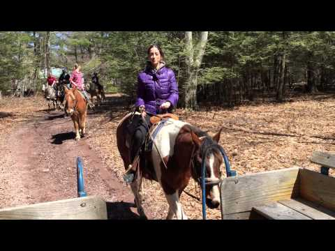 Julia Abelev: horseback riding in Pocono, Pennsylvania.