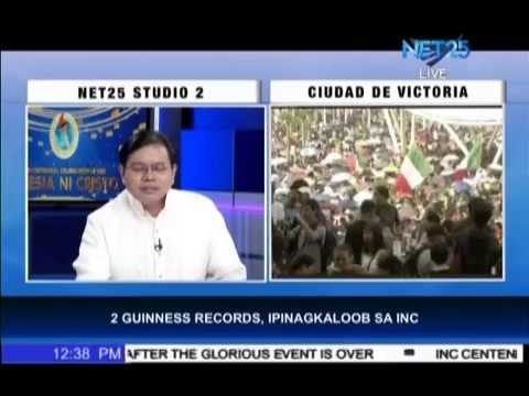 records - World's largest gospel choir and world's largest mixed use arena. These are the two new Guinness world records bagged by the Iglesia Ni Cristo as it celebrates its centennial. The Iglesia Ni...