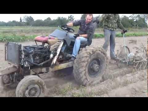 Самодельный трактор. Схема