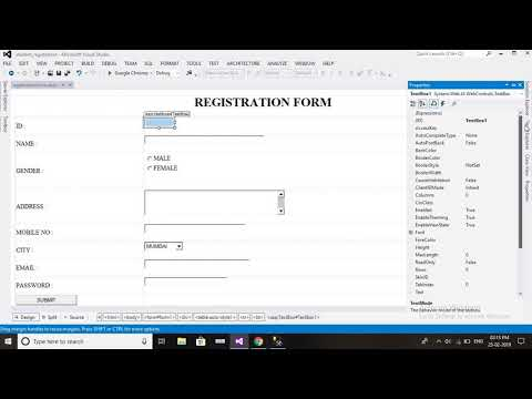 How to create a simple Registration Form in ASP.NET part 1