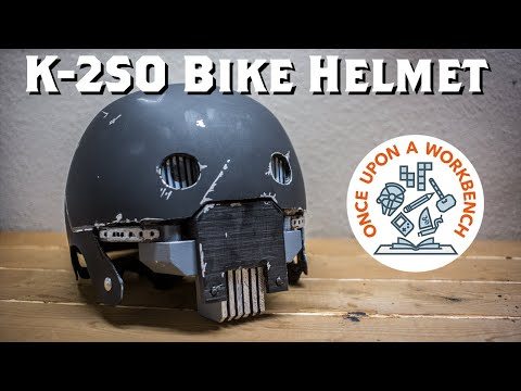 DIY Star Wars K2SO Bike Skate Helmet with Light Up