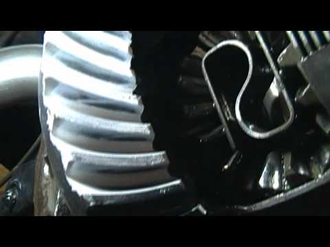 How to install or change or replace gears and bearings in a rear end or differential