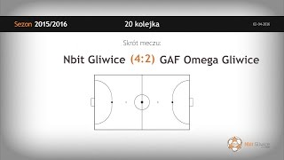 Skrót meczu Nbit Gliwice - GAF Omega Gliwice (20 kolejka)