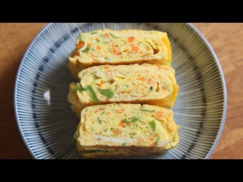 [SUB] 두툼한 계란말이 : How to make Egg rolls : tamagoyaki : 꿀키