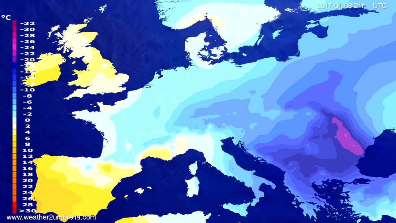 Temperature forecast Europe 2017-01-05