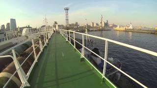 Navegar en un barco de mercancías