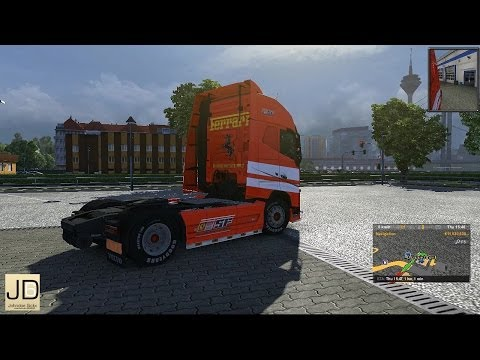 VOLVO FH2012 – Ferrari Truck, Interior and Trailer