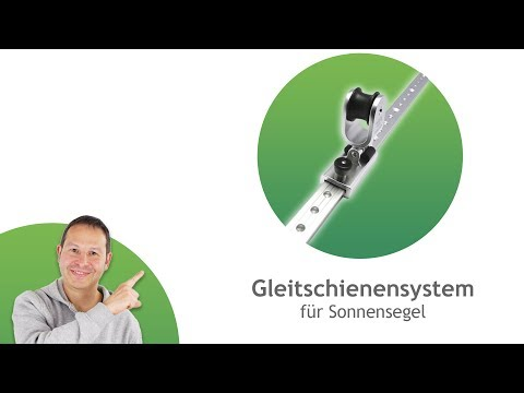 Gleitschienensystem - Gleitschiene und Gleitschlitten für Sonnensegel