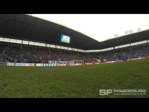 Video: 1. FC Magdeburg - Stuttgarter Kickers -  Einklatschen nach Schlusspfiff