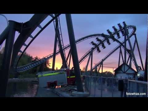 thorpe park the swarm - An explosive video featuring The Swarm the Uks first winged rollercoaster in the dark. Filmed Fright Nights 2012.