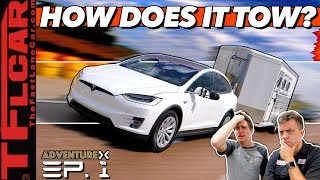 Can Electric Cars Tow? We Max Out A Tesla Model X & Kill The Battery to Find Out! by The Fast Lane Car
