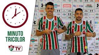 Na manhã desta quinta-feira, o Tricolor recebeu a imprensa no CTPA para apresentar seus novos reforços da temporada: o meia-atacante Robinho e o volante Richard.