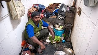 ALL FOR FAMILY: HARDWORKING MAN LIVES IN PUBLIC TOILET TO SAVE MONEY