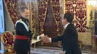 Entrega a S.M. el Rey de las cartas credenciales del nuevo embajador de Ecuador