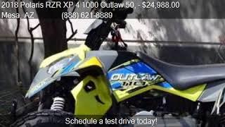 10. 2018 Polaris RZR XP 4 1000 Outlaw 50, Outlaw 110 Package Dea