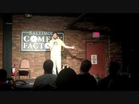 Comedian John Clark at Baltimore Comedy Factory