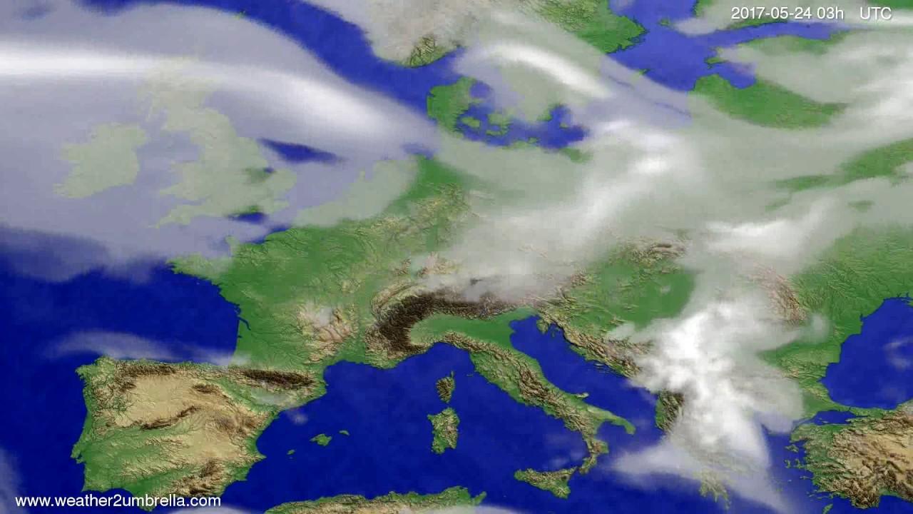 Cloud forecast Europe 2017-05-21
